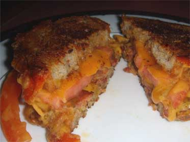 bacon and arugula grilled cheddar tomato and bacon sandwiches recipe ...