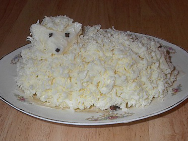 How to make a Polish Easter, Butter Lamb Recipe Picture