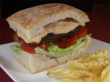 blackened salmon sandwich at rooster s blackened salmon sandwich at ...