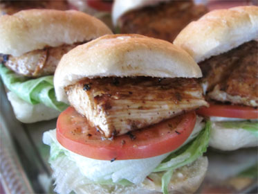 Grilled Mahi, Lettuce, and Tomato Sandwich Picture