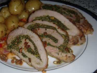 Pesto pork tenderloin recipe