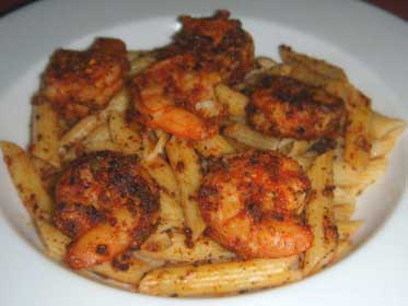 Blackened Shrimp on Penne Pasta Picture